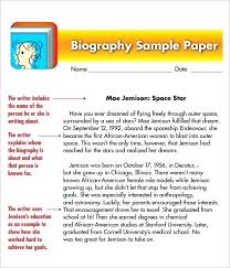 Outline For Writing A Biography Simple Biography Template Infekt Me