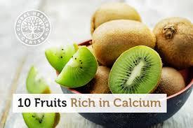 Calcium Content Of Foods Chart 10 Fruits Rich In Calcium