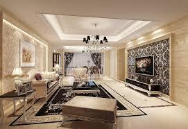 elegant wallpaper style living room