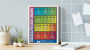 Official Month Designations 2020 Health Wellness Awareness Calendar Infographic