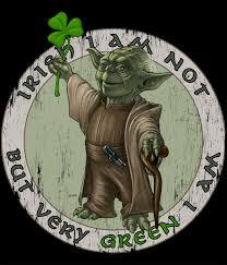 Yoda with a shamrock