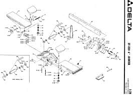 Schematic new delta machinery service parts xl 10 table saw · 6 in jointer