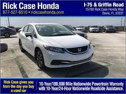 honda civic 2014 white. Contemporary 2014 Used 2014 Honda Civic EX For Sale In Miami FL In White N