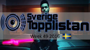 Swedish Singles Chart The Official Swedish Singles Chart Top 20 Week 49 December 3rd 2016