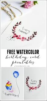 Free Watercolor Birthday Card Printables Real Printables