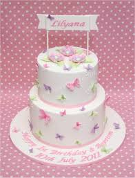 Pastel Butterfly Cake With Edible Butterflies And Flowers For A