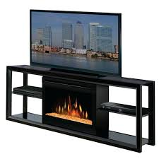 electric fireplace glass embers tv stand with