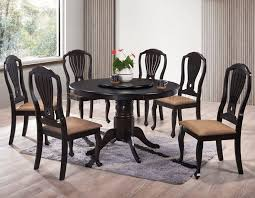 interior hmq5 round dining set with lazy susan home office furniture round kitchen table with