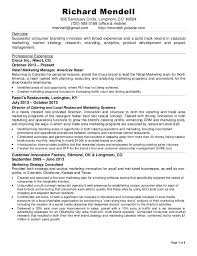 ... Description Subway Resume 20 Branding Amp Innovation Page Of Richard  Mendell Sanctuary Circle Longmont Co Resume For ...