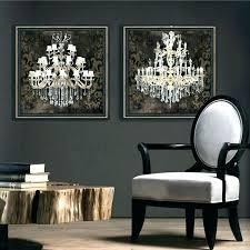 chandelier canvas art black