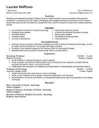 Permalink to Resume Samples For Professors
