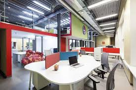 contemporary office design. Contemporary Office Furniture And Colorful Space Dividers Contemporary Design