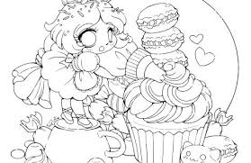 Cute Food With Faces Coloring Pages