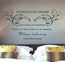 bedroom best bedroom wall decals quotes for your home romantic bedroom wall decals