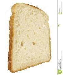 Bread Slice Single Toast Close Up On White Stock Image Image