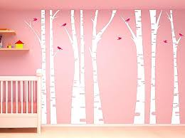 white tree wall decal decals vinyl for nursery new beautiful sticker uk
