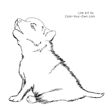 Small Picture wolf coloring pages for kids wolf puppy coloring page pic 1