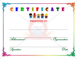 Free Coloring Pages Kids Certificate Template Free Printable