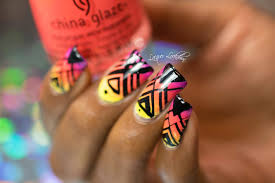Lacquer Lockdown: MoYou London Triangle Grid Placement Neon Nail ...