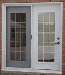 French Doors With Mini Blinds Inside Of Glass Business For - Exterior patio sliding doors