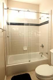 frosted sliding shower doors.