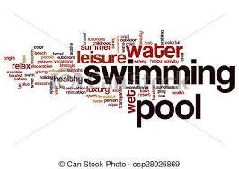 Pool Word Swimming Pool Word Cloud Concept Swimming Pool Word Cloud