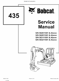bobcat excavators service manuals and operation maintenance click to view big picture in popup