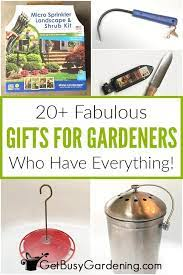 20 best gifts for the gardener who has