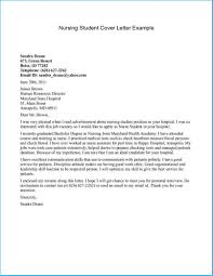 Free Examples Of Cover Letter New Nursing Student Cover Letter As Free Cover Letter