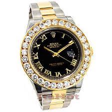 rolex diamond watches custom watches for men women rolex datejust two tone 18k gold mens cu