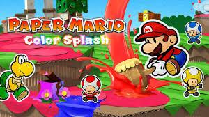 paper mario color splash info and