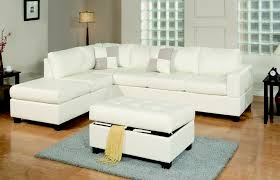 april white leather sectional