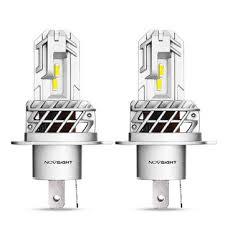 Novsight n35 <b>2pcs h4</b> 12v 50w 10000lm 6000k <b>led bulbs</b> motorcycle ...