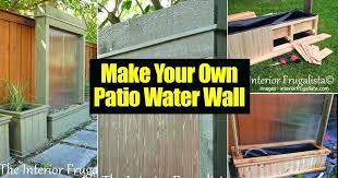 waterwall patio water features0