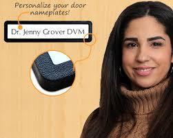 slider door name plate personalized door name plate