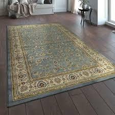 traditional rug grey blue cream oriental persian ornament carpet room floor mats