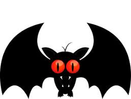 black bat clipart.  Bat Bat Clipart Image A Black Bat With Sharp Teeth And Large Red Eyes With Black Clipart T