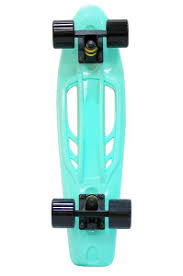 <b>Скейтборд Y-Scoo Skateboard Fishbone</b> (405-A) aqua-black ...
