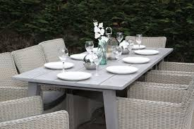 grey rattan dining table. quality rattan dining 8 seater set grey table