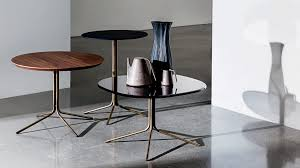 Genius Circle Coffee Table With Glass Ceramic And Wood Top Sovet