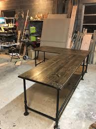 pipe l shaped desk