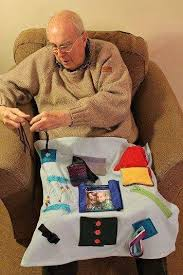 one of the best gifts you can give to someone that has alzheimer s is a busy blanket or fidget blanket no need to make it too large lap size will do