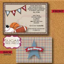 Baby Shower Invitation Card With Football Club Chelsea Theme And Baby Shower Invitations Sports Theme