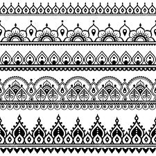 Henna Pattern New Mehndi Indian Henna Tattoo Seamless Pattern Design Elements