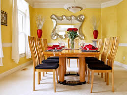 Dining Room  Tasteful Smart Yellow Kitchen Dining Room Decoration - Dining room two tone paint ideas