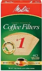 Melitta natural brown #4 coffee filter 100ct. Melitta 400 Pack Natural Brown 1 Cone Coffee Filter Ebay