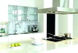 white kitchen with glass upper cabinets cabinet doors marble