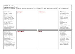 Swot Analysis Table Template 40 Powerful Swot Analysis Templates Examples