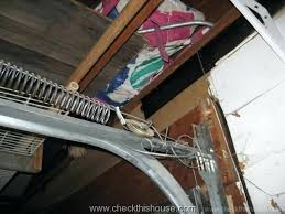 repair garage door cable full size of replace garage door extension spring properly installed safety cable