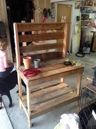Potting Bench Plans Weekend Diy Potting Bench Sequins At Breakfast